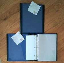 Lot Of 4 Each Small 1 D Slant 3 Ring Binders For Dvd Storage 5x8 Sheets Etc