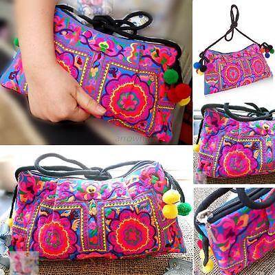 Retro Hill Tribe Purse Crossbody Bag Thai Hmong Embroidered Ethnic Hippie Boho