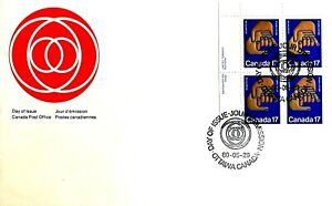 Canada 1980 FDC #856  PBs  INTERNATIONAL EVENTS - Rehabilitation International