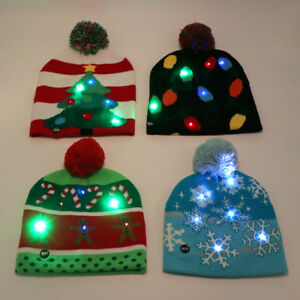 Led-Christmas-Hat-Knit-Light-Up-Beanie-Hat-Kid-Adult-Cap-Christmas-New-Year-Gift