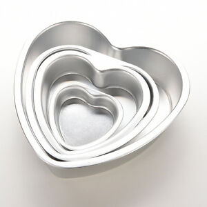 Fad-Aluminium-Heart-Shaped-Fondant-Cake-Biscuit-Baking-Mold-Pan-Tins-Muffin-LY