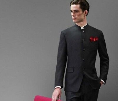 Mens Grooms Tailored Indian Traditional Wedding Black Jodhpuri Suit Jacket Pants Ebay
