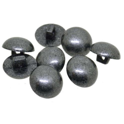 Antique Gris abovedado Caña Botones 11.5mm 15mm