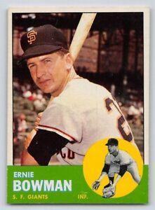 Details About 1963 Ernie Bowman Topps Baseball Card 61 San Francisco Giants