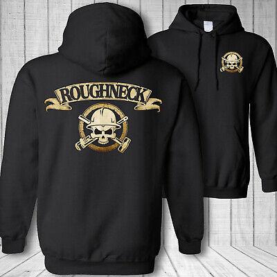 Oilfield worker skull hooded sweatshirt, roughneck pipe wrench crossbones hoodie | eBay