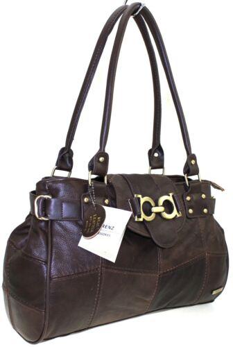 Black Tote Leather Shoulder New Office l Real moda Grab fawn Handbag de Bolsos Lorenz xqwxZ1gpP