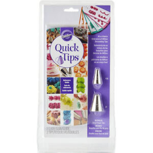 Wilton Quick Tips Piping Reference Guide with 2 Nozzles Cake Icing Decorating