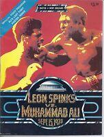 Muhammad Ali  Leon Spinks On Site Boxing Program September 15, 1978