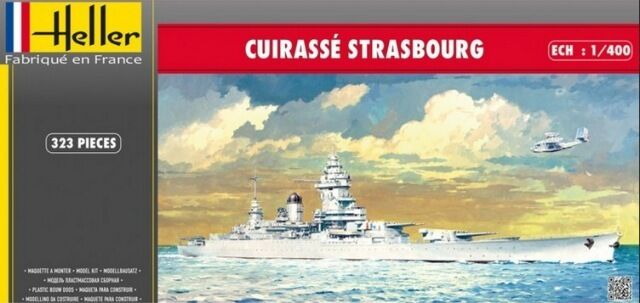 Heller 1 400 Cuirasse Strasbourg Battleship Ship Model Kit