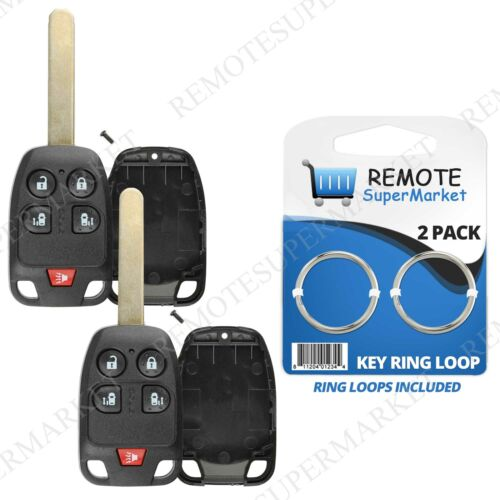 2 Replacement for 2011 2012 2013 Honda Odyssey Remote Car Key Fob Shell Case 5B