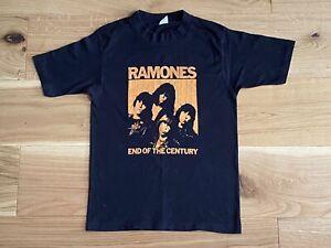 RAMONES-END-OF-THE-CENTURY-VINTAGE-1980-UK-TOUR-T-SHIRT-SIZE-S-PUNK-ROCK