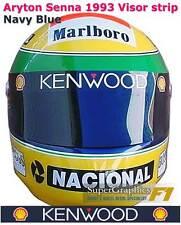 CASCO VISIERA Adesivo aryton SENNA F1 fan 1990'S RACING BLU NAVY