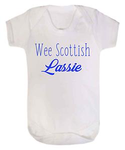 Wee Scottish Lassie Baby Vest Bodysuit Babygrow Baby Scotland Scottish Baby Girl