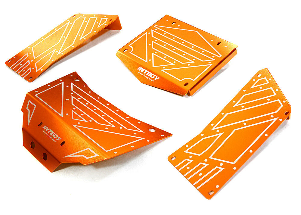 RC Car C27005orange Aluminum Alloy Body Panel Kit for Axial 1 10 RR10 Bomber 4WD