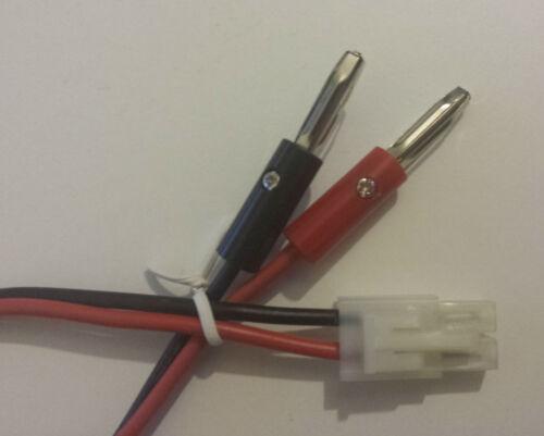 bis 2 Stück Tamiya Stecker Ladekabel mit 4mm Bananenstecker 4mm /> Tamiya Buchse