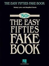 The Easy 1950s Fifties Fake Book Melody Lyrics and Simplified Chords 100 Songs