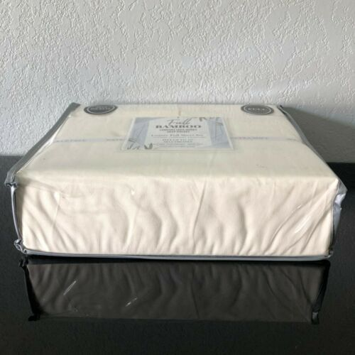 4Pc Bamboo Blend Comfort 1800 Series Luxury Sheet Set Full Ivory Deep Pockets