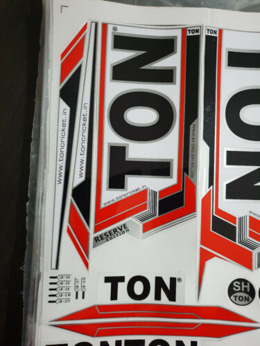 TON RESERVE EDITION RED CRICKET BAT STICKER BUY ONE GET ONE FREE LIMITED OFFER