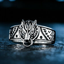 Final Fantasy Cloud Wolf Ring US9 925 Sterling Silver