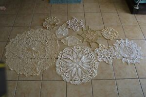 Vintage Doily Lot of 10 Collectible Tabletop Home Decor Lace Dining Linens