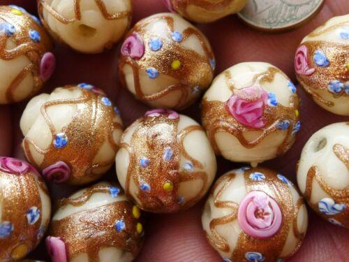 Perle Verre Collier Murano Ancien Antique Wedding Cake Murano Glass Bead Necklac