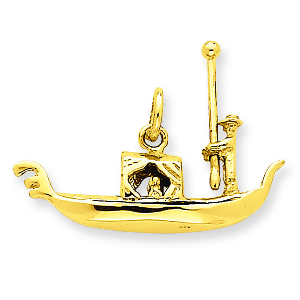 14K Yellow gold Gondola Charm Pendant MSRP  482