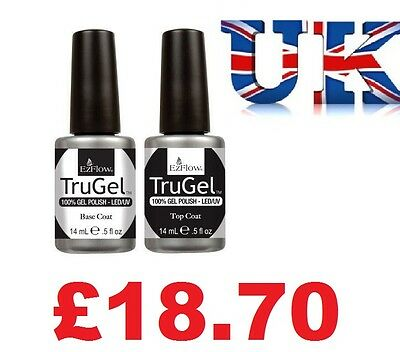 Ezflow TRUGEL UV Polish Top Coat & Base Coat  Duo Pack - 2 x 14ml