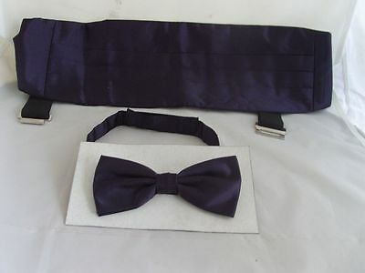 IVORY Cummerbund and Bow Tie Set/</>P/&P 2UK/>1st Class/>in Over 60 Colours