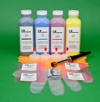 Hp Cp4525 Cp 4525 Cp4525dn Four Color Toner Refill With Hole Making Tool & Chips