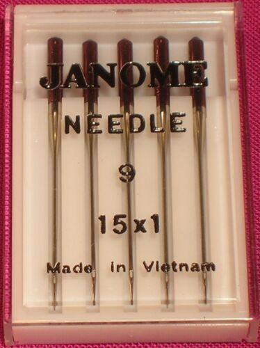 Janome Größe 9//65 Nadeln für Feine Stoffe Seide Seide Chiffon und Spitze