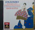 STRAVINSKY (CD) PETRUSHKA - SYMPHONY IN THREE MOVEMENTS - SIMON RATTLE