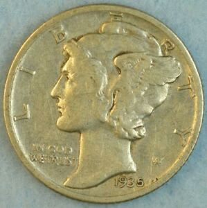CIRCULATED-1935-P-Silver-Mercury-Dime-90-Silver-Fast-Shipping-413