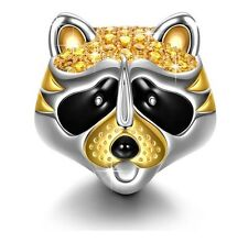 Lovely Raccoon Charm!925 Sterling Silver Mom Hair Phone Case Nail Home