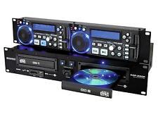 "19"" Omnitronic XDP-2800 Doppel-CD Dual-CD-/MP3-Player USB SD HC CD-R CD-RW LCD"