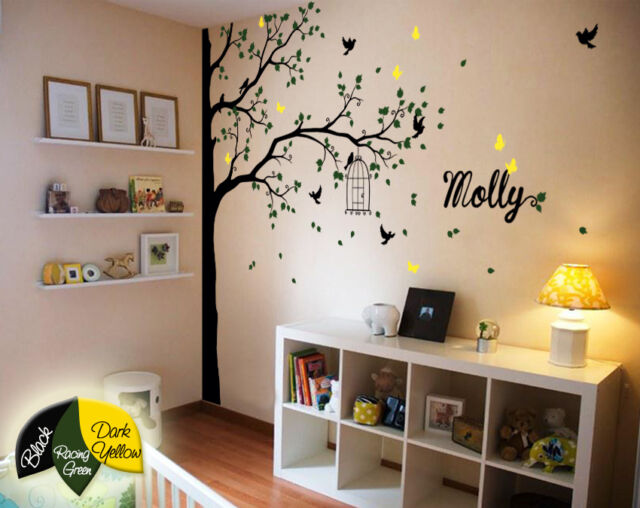 Corner Tree wall decals wall decor nursery wall mural  large stickers KR076