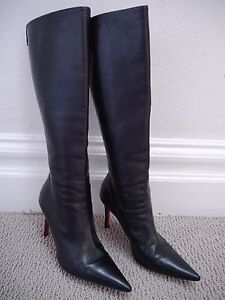 db00594dfb2 Artesur » christian louboutin pointed-toe knee-high boots Black leather