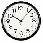 """Universal Indoor/Outdoor Clock, 13 1/2"""", Black - UNV11381"""