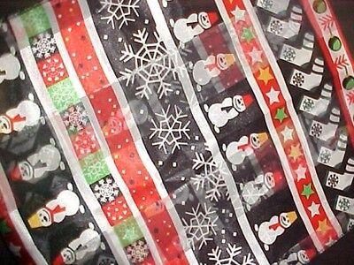 Damen Weihnachts Tuch Stola Schal Schneemann Winter schwarz rot 148 x 35 cm NEU