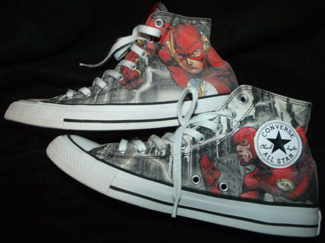 Chuck Top Converse Dc 10 Flash Shoes The Size Comics Star Taylor 150863c Hi All 8nwkPXO0