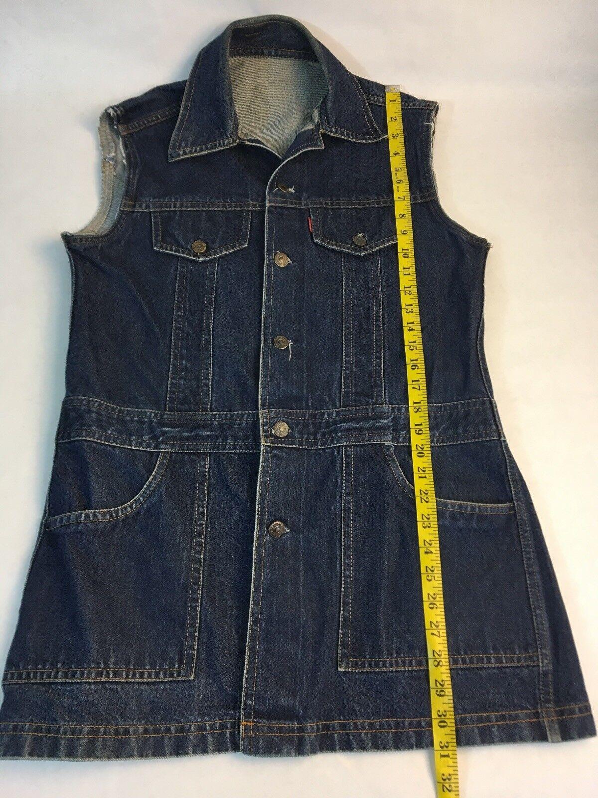 Levi's Big E Denim Jumper Women's Jean Dress Dark… - image 5