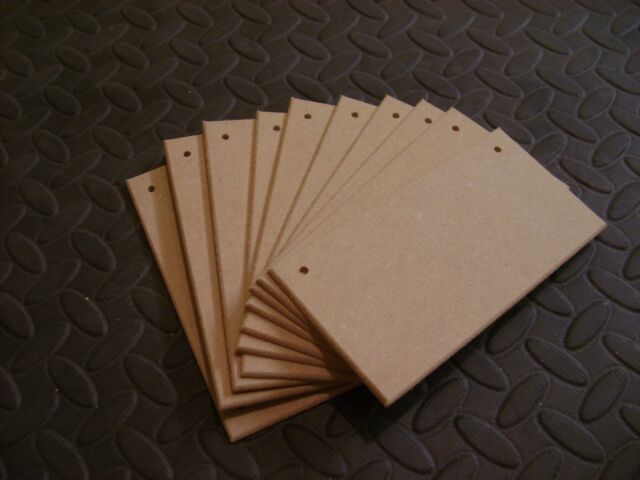 5 x Wooden Mdf hearts 20cm 4mm thick 1 hole