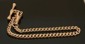 9-Carat-Rose-Gold-Albert-Style-Bracelet-amp-Dog-Bone-T-Bar-7-25-034-80-19-498