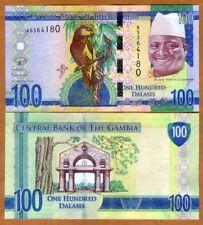 ND//2013 Gambia 5 Note Set p25c//p26c//p27c//p28c//p29c UNC 5 to 100 Dalasi