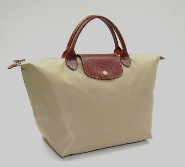 9945127c25 Longchamp Le Pliage Medium Nylon Tote Beige for sale online | eBay