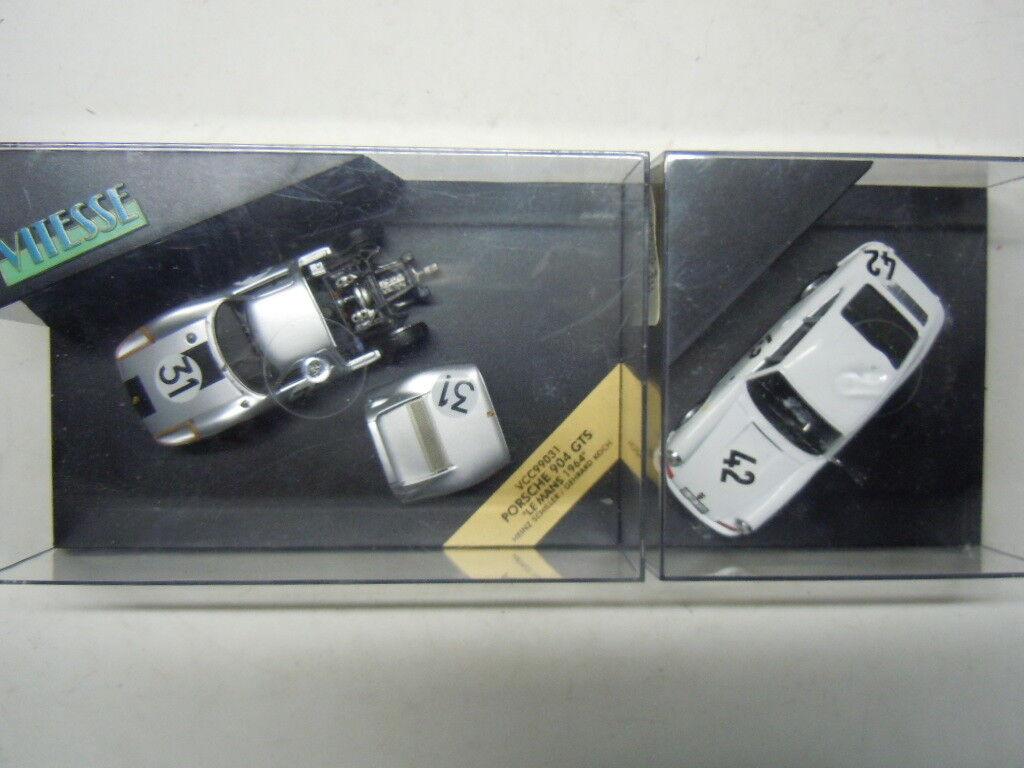 2 RARE Porsche 911 et 904 modèles de vitesse LIMITED EDITION dans 1 43 neuf dans sa boîte