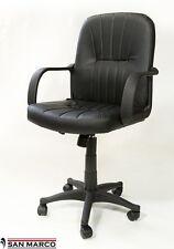 Sedia poltrona direzionale girevole imbottita per casa ufficio studio eco pelle