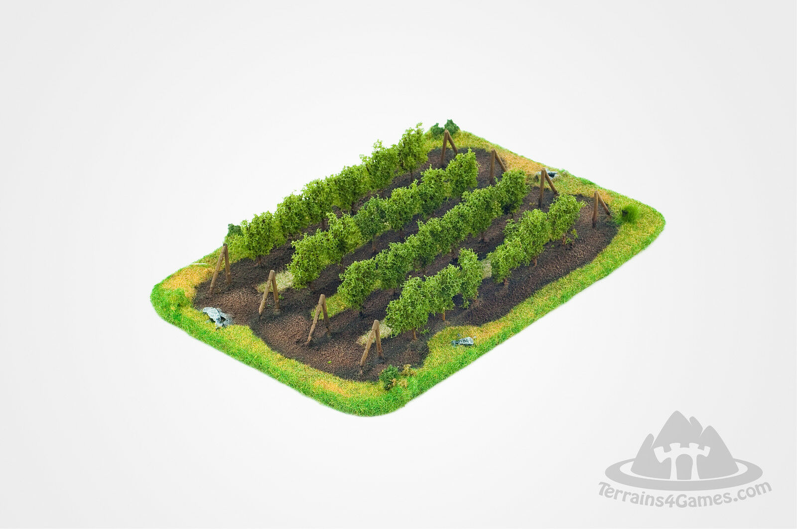 Terrains4Games - VINEYARD Wargame Scenery 15 mm painted