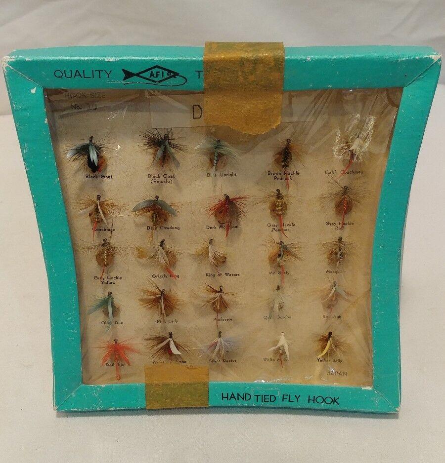 Vintage Japonese Made AFI Dry Flies Hook Size 10 Count 25