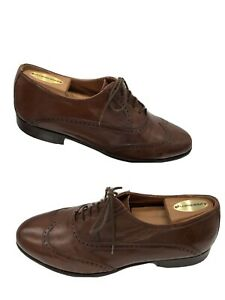 Bostonian Florentine Mens Oxfords Brown Leather Wingtip Shoes Italy 8.5M. 27152