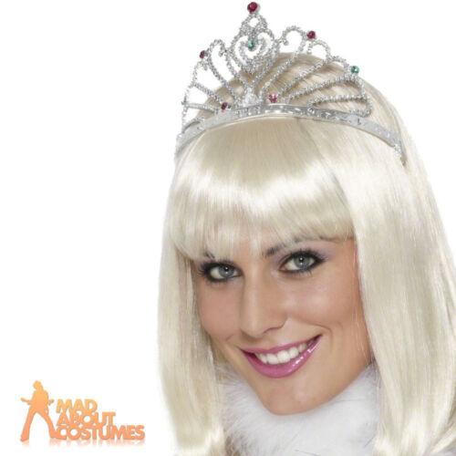 Fan Tiara Silver Ladies Fancy Dress Costume Accessory Fairy Tale Wings New